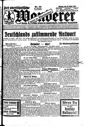 ˜Derœ Oberschlesische Wanderer vom 28.04.1924
