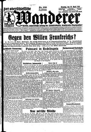 ˜Derœ Oberschlesische Wanderer vom 29.04.1924