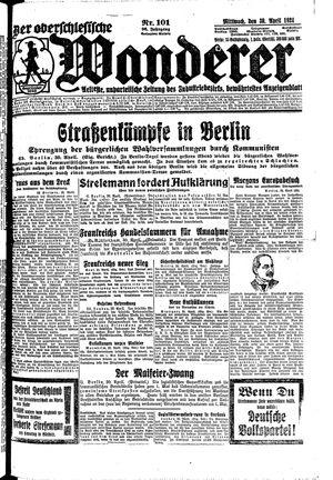 ˜Derœ Oberschlesische Wanderer vom 30.04.1924