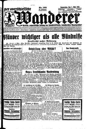 ˜Derœ Oberschlesische Wanderer vom 01.05.1924