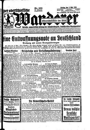 ˜Derœ Oberschlesische Wanderer vom 02.05.1924