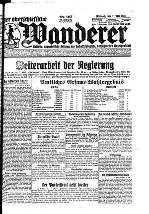˜Derœ Oberschlesische Wanderer vom 07.05.1924