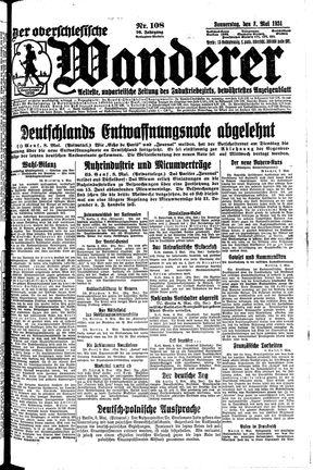 ˜Derœ Oberschlesische Wanderer vom 08.05.1924