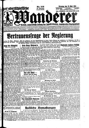 ˜Derœ Oberschlesische Wanderer vom 13.05.1924