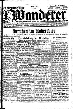 ˜Derœ Oberschlesische Wanderer vom 20.05.1924