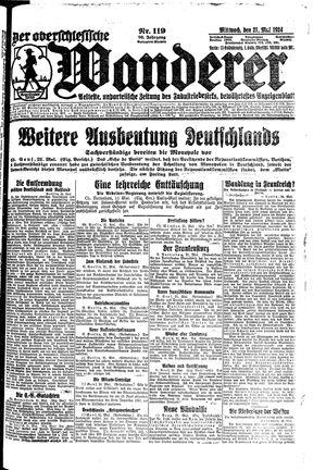 ˜Derœ Oberschlesische Wanderer vom 21.05.1924