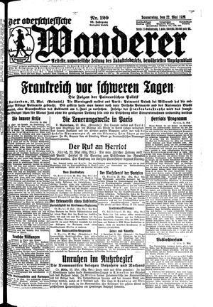 ˜Derœ Oberschlesische Wanderer vom 22.05.1924