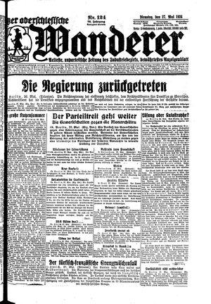 ˜Derœ Oberschlesische Wanderer vom 27.05.1924