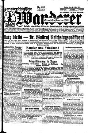 ˜Derœ Oberschlesische Wanderer vom 30.05.1924