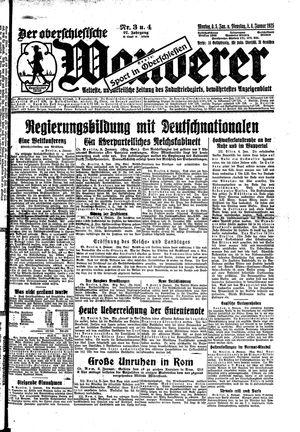 ˜Derœ Oberschlesische Wanderer vom 05.01.1925