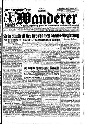 ˜Derœ Oberschlesische Wanderer vom 07.01.1925