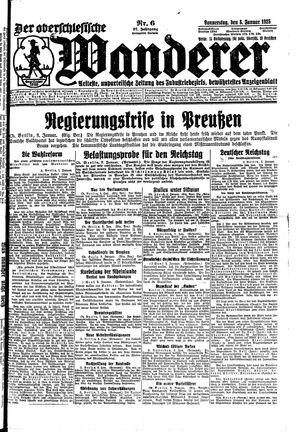 ˜Derœ Oberschlesische Wanderer vom 08.01.1925