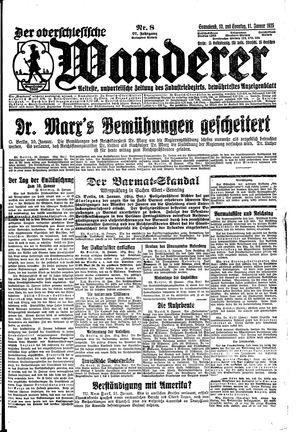 ˜Derœ Oberschlesische Wanderer vom 10.01.1925