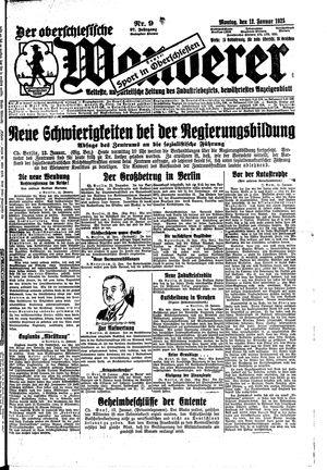 ˜Derœ Oberschlesische Wanderer vom 12.01.1925