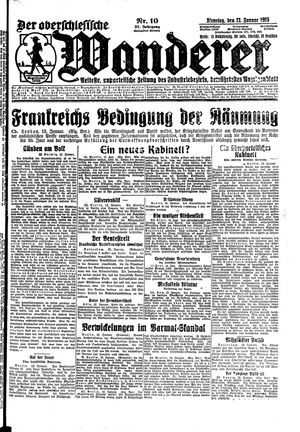 ˜Derœ Oberschlesische Wanderer vom 13.01.1925