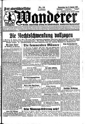 ˜Derœ Oberschlesische Wanderer vom 15.01.1925