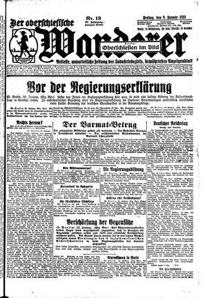 ˜Derœ Oberschlesische Wanderer vom 16.01.1925