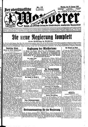 ˜Derœ Oberschlesische Wanderer vom 19.01.1925
