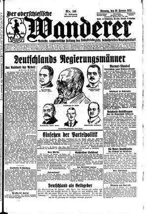 ˜Derœ Oberschlesische Wanderer vom 20.01.1925