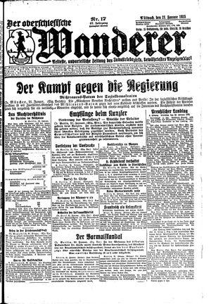 ˜Derœ Oberschlesische Wanderer vom 21.01.1925