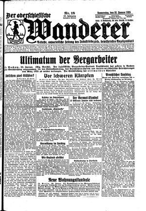 ˜Derœ Oberschlesische Wanderer vom 22.01.1925