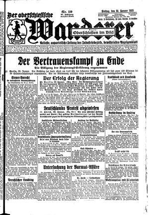 ˜Derœ Oberschlesische Wanderer vom 23.01.1925