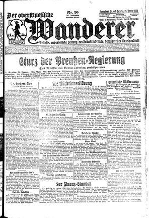 ˜Derœ Oberschlesische Wanderer vom 24.01.1925