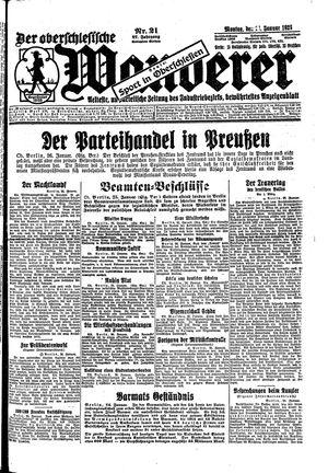 ˜Derœ Oberschlesische Wanderer vom 26.01.1925