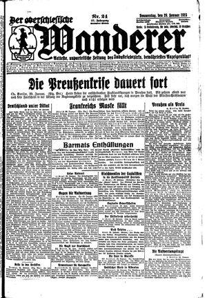 ˜Derœ Oberschlesische Wanderer vom 29.01.1925