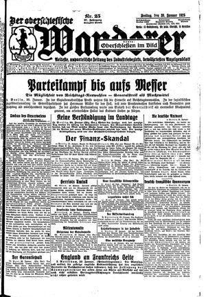 ˜Derœ Oberschlesische Wanderer vom 30.01.1925