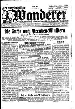 ˜Derœ Oberschlesische Wanderer vom 31.01.1925