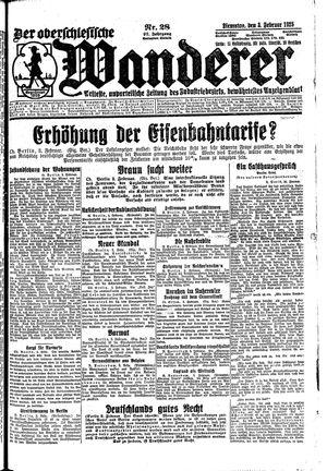 ˜Derœ Oberschlesische Wanderer vom 03.02.1925