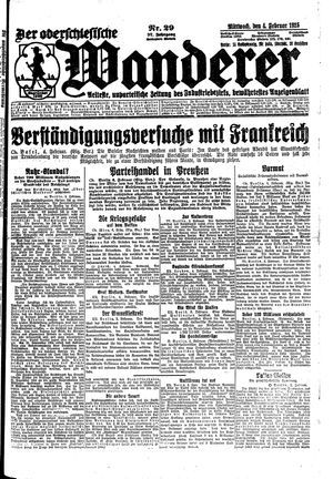 ˜Derœ Oberschlesische Wanderer vom 04.02.1925