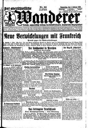 ˜Derœ Oberschlesische Wanderer vom 05.02.1925