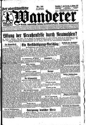 ˜Derœ Oberschlesische Wanderer vom 07.02.1925