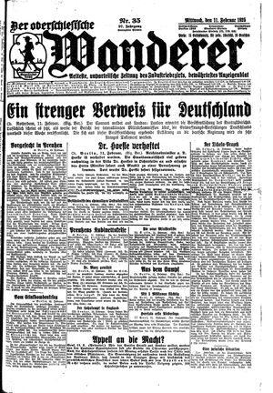 ˜Derœ Oberschlesische Wanderer vom 11.02.1925