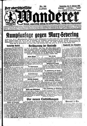 ˜Derœ Oberschlesische Wanderer vom 12.02.1925