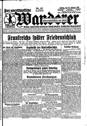 ˜Derœ Oberschlesische Wanderer vom 20.02.1925