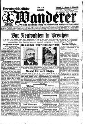 ˜Derœ Oberschlesische Wanderer vom 21.02.1925