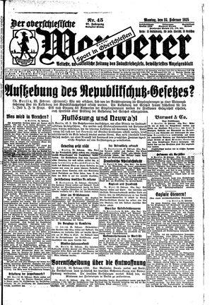 ˜Derœ Oberschlesische Wanderer vom 23.02.1925