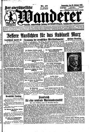 ˜Derœ Oberschlesische Wanderer vom 26.02.1925