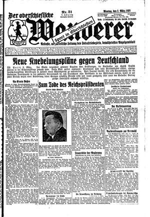 ˜Derœ Oberschlesische Wanderer vom 02.03.1925