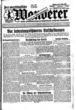 ˜Derœ Oberschlesische Wanderer vom 09.03.1925