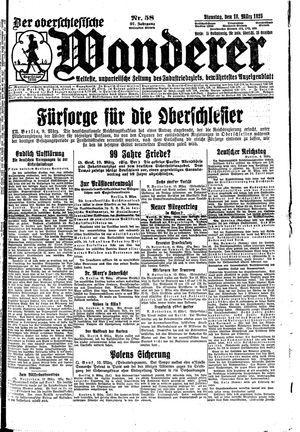 ˜Derœ Oberschlesische Wanderer vom 10.03.1925
