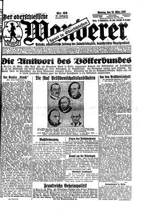 ˜Derœ Oberschlesische Wanderer vom 16.03.1925
