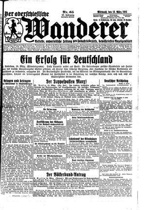 ˜Derœ Oberschlesische Wanderer vom 18.03.1925