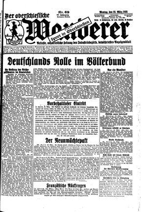 ˜Derœ Oberschlesische Wanderer vom 23.03.1925