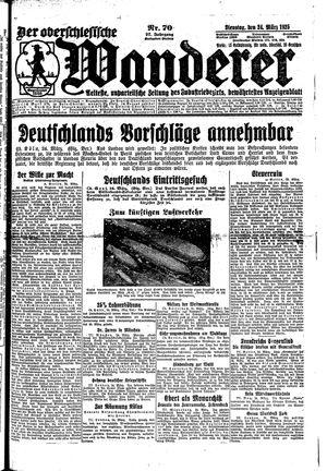 ˜Derœ Oberschlesische Wanderer vom 24.03.1925