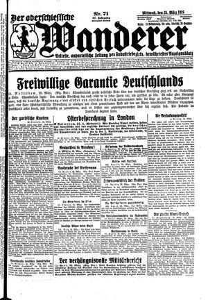 ˜Derœ Oberschlesische Wanderer vom 25.03.1925