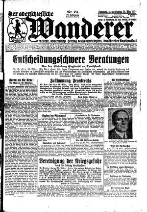 ˜Derœ Oberschlesische Wanderer vom 28.03.1925